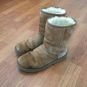 Ugg Australia Short Boots Women's 8 Chestnut